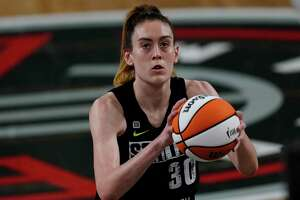 Seattle Storm forward Breanna Stewart (30) shoots a free throw during the first half of their WNBA basketball game against the Atlanta Dream Wednesday, June 9, 2021, in College Park, Ga. (AP Photo/John Bazemore)
