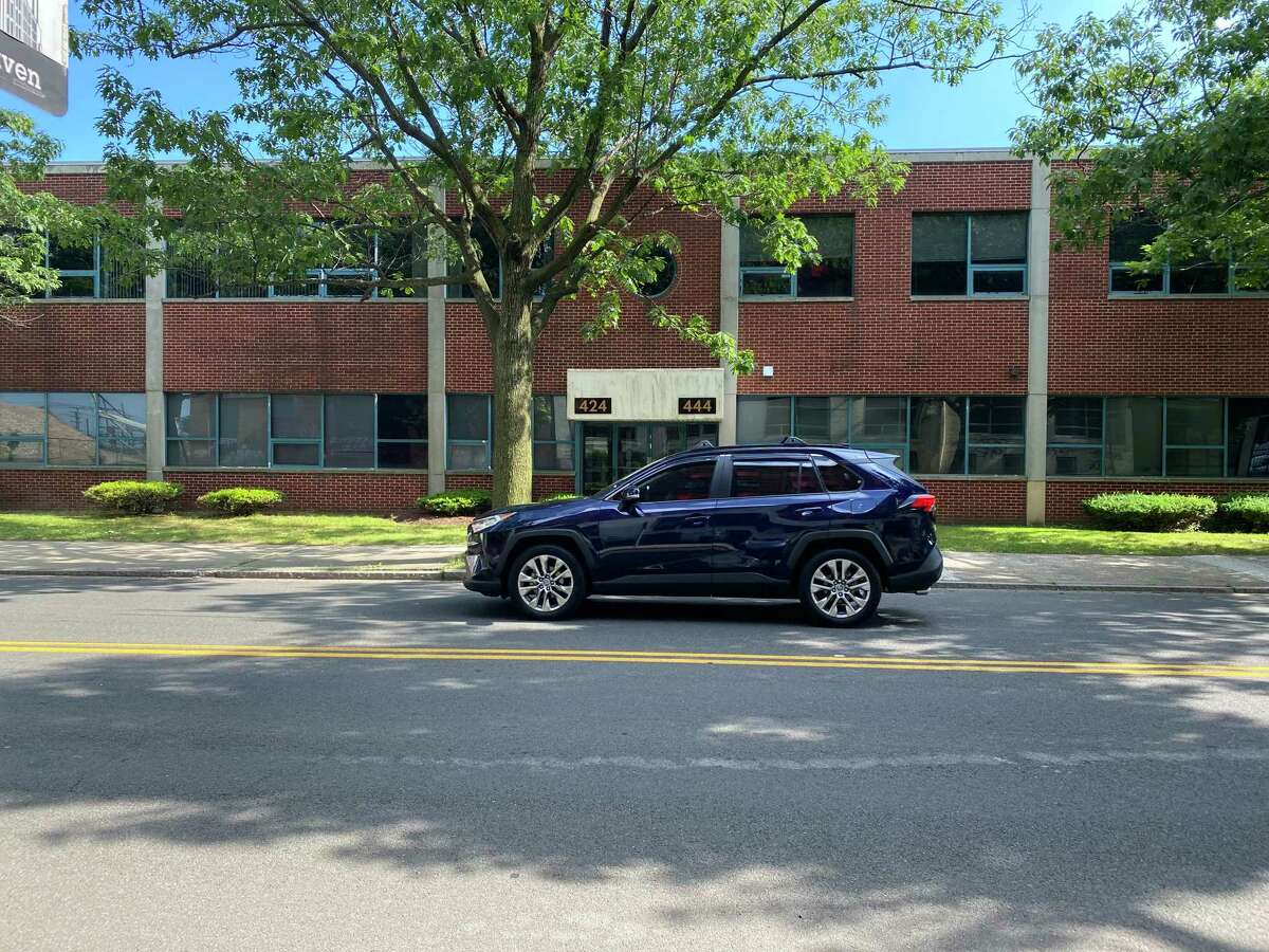 The former state Department of Transportation District 3 office and garage at 424 Chapel St. in New Haven, which the New Haven Board of Alders voted unanimously to buy for $2.1 million.