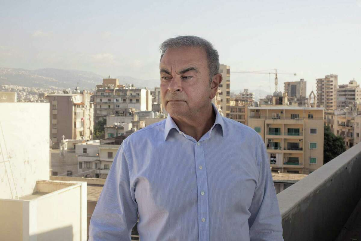 Carlos Ghosn, former chief executive officer of Nissan, poses for a photograph in Beirut on Aug. 25, 2020.