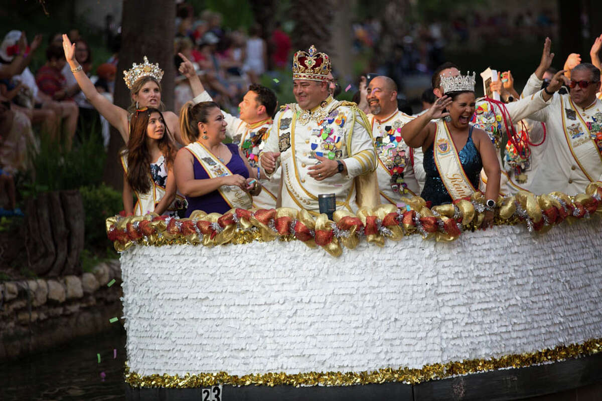 The Texas Cavaliers hosted the only parade of the 2021 Fiesta season.