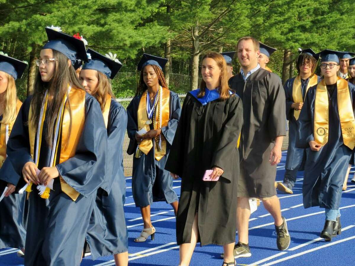 198 students graduated from East Haven High School, assistant principal Susan Harkins was honored, on June 21, 2021.