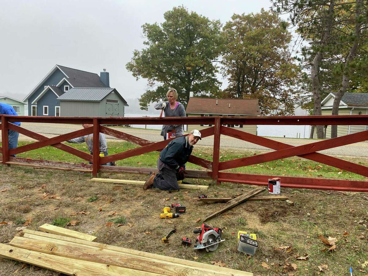 Kiwanis members have helped around the grounds of Camp Neyati including constructing a disc golf course, a climbing wall, several new fire pits, as well as general maintenance of the grounds such as fence maintenance. (Photo provided)
