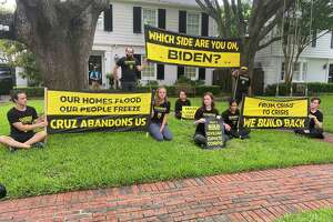 Eight people were arrested outside of Sen. Ted Cruz's home during a protest on Monday, June 21.