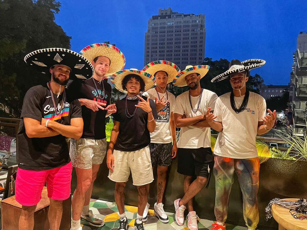 Fiesta had rare guests in attendance Monday as some of the Spurs showed up to watch the Texas Cavaliers River Parade.