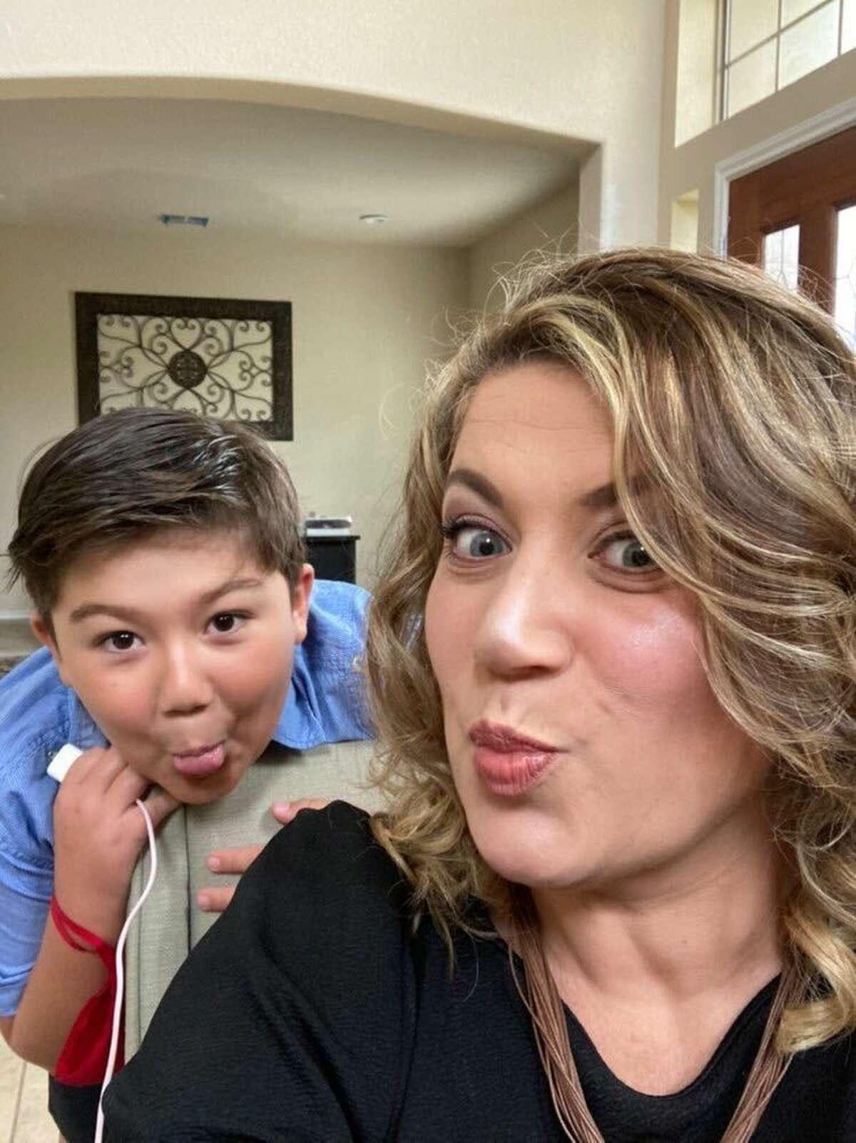 Moana and her son Sebastian.