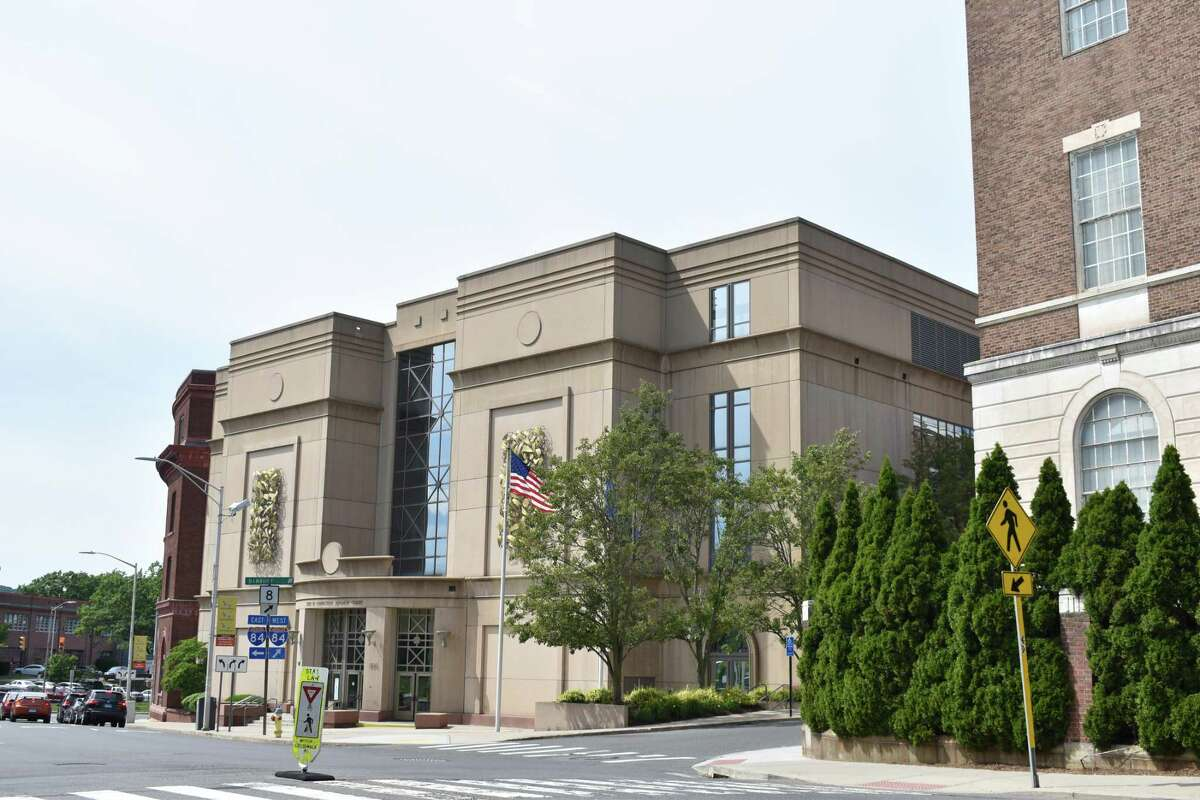 The Geographical Area No. 4 courthouse at 400 Grand St. in Waterbury, Conn.