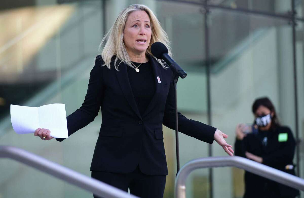 State Sen. Alex Kasser, a Democrat who represents Stamford and Greenwich, announced Tuesday that she is resigning from office.