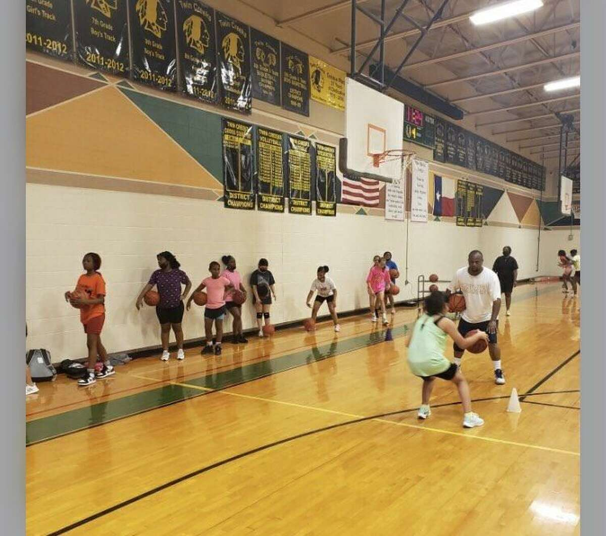 Summer strength and conditioning camps and sports-specific skill instruction got under way at schools throughout Spring ISD, June 7.