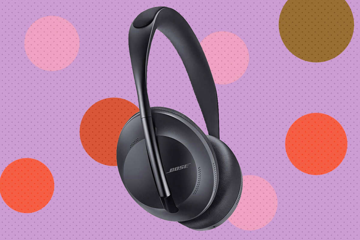 Bose's soapstone-colored, wireless noise-cancelling headphones