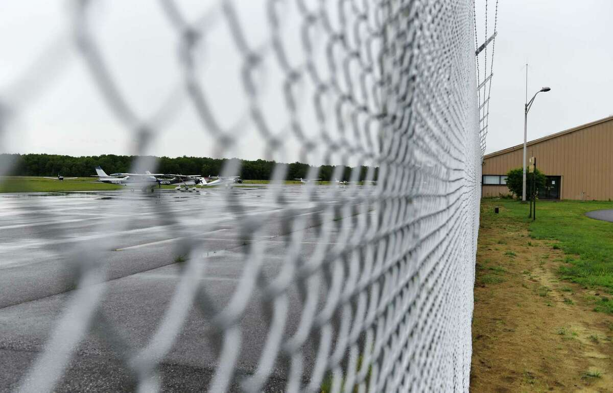 Saratoga County Airport on Tuesday, June 22, 2021, in Milton, N.Y. The county is looking to update its airport and purchase more adjoining property. (Will Waldron/Times Union)