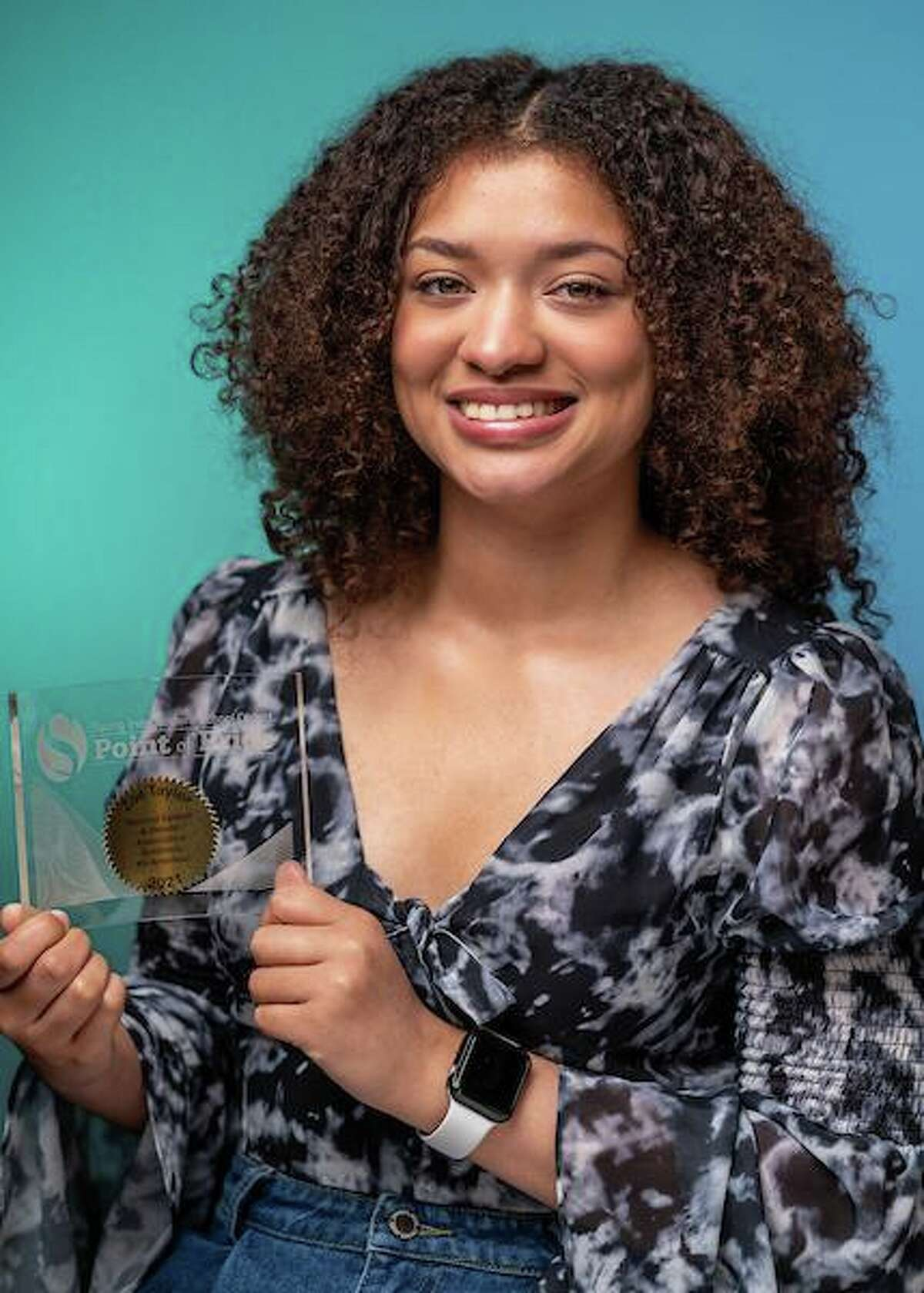 Zoe Taylor, a graduating senior from Spring High School, who was recently named an Academic All-American by the National Speech & Debate Association.