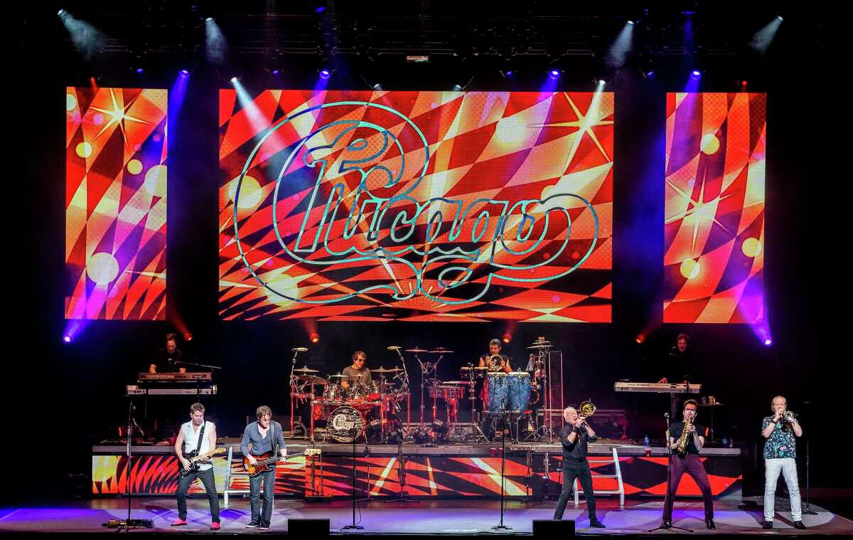 The rock band Chicago performs in 2018 at the Xfinity Center in Mansfield, Mass.