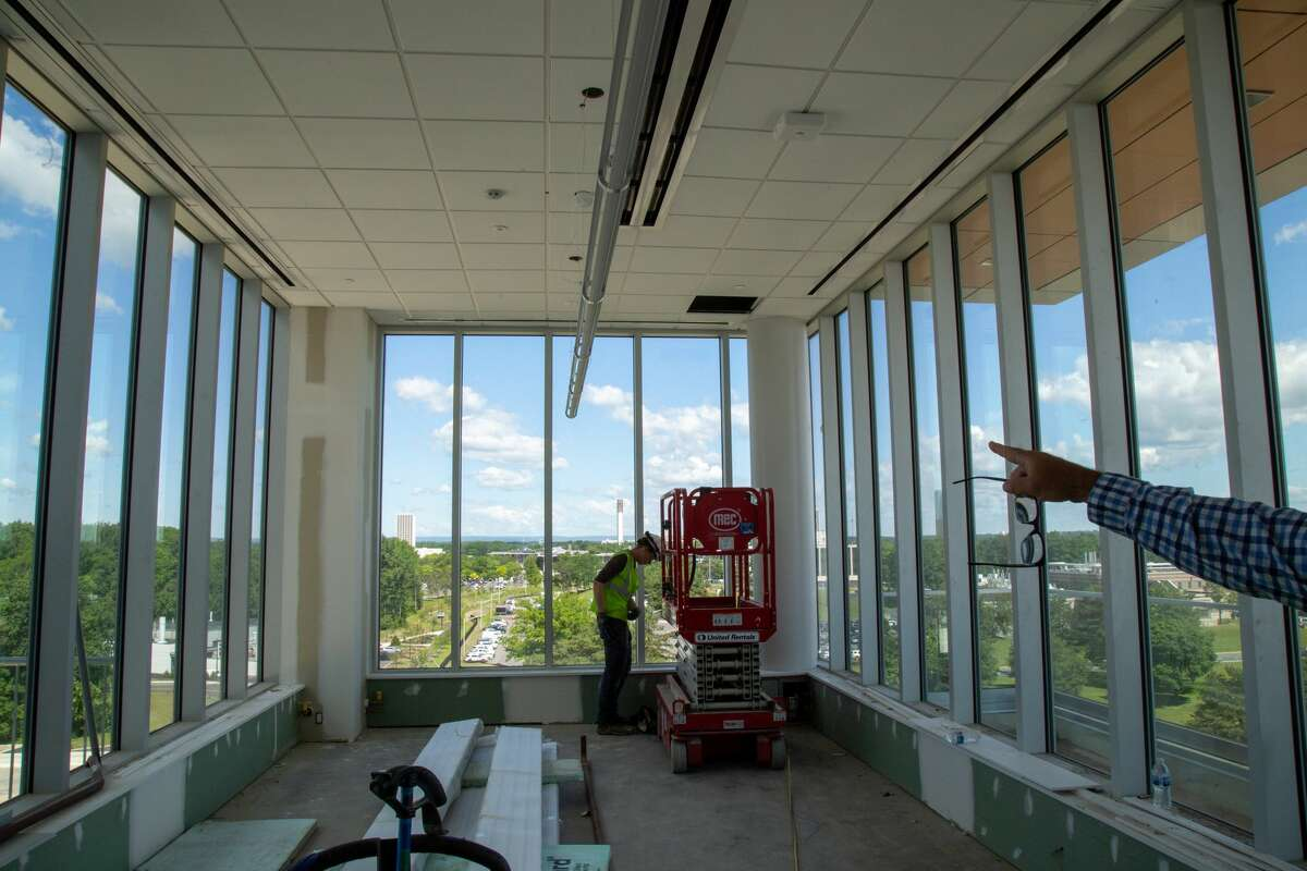 Construction in progress at University at Albany on the new ETEC building. Photo by: Brian Busher