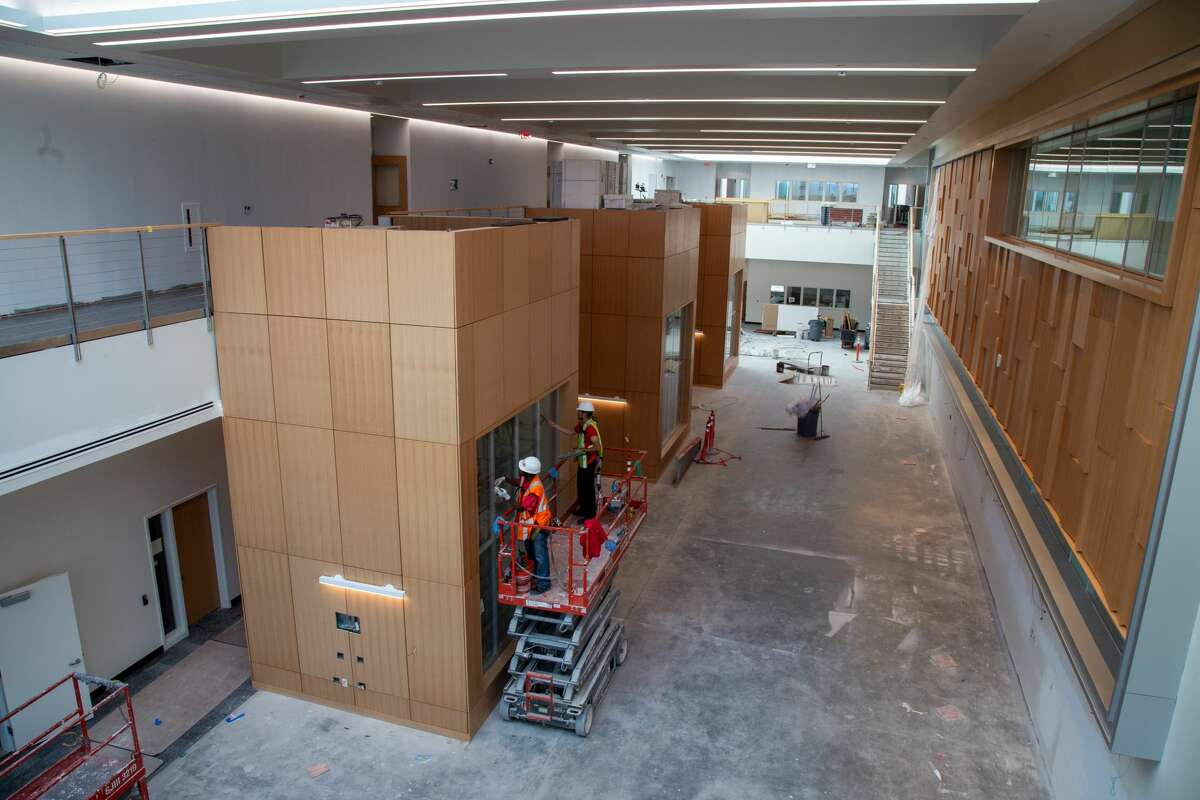 Construction in progress at new ETEC building on University at Albany's campus. Photo by: Brian Busher