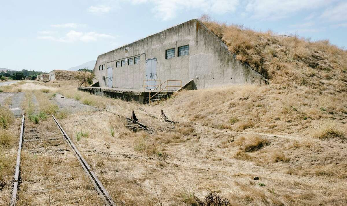 """Former ammunition bunkers dot the land scape in """"Bunker City,"""" at the Concord Naval Weapons Station in Concord. The site has been a target of redevelopment."""