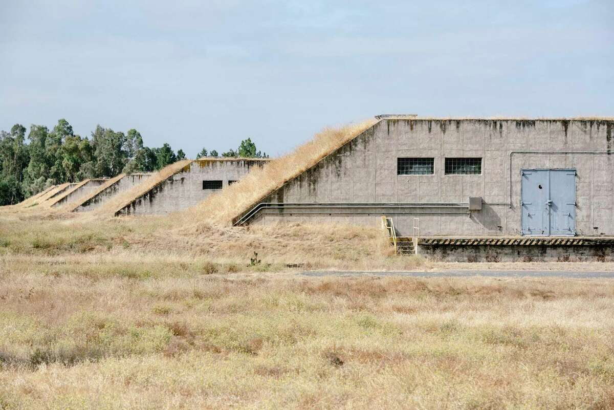 """Former ammunition bunkers dot the land scape in """"Bunker City,"""" at the Concord Naval Weapons Station in Concord. The site has been proposed for redevelopment into a the Bay Area's largest mixed-use developement project."""