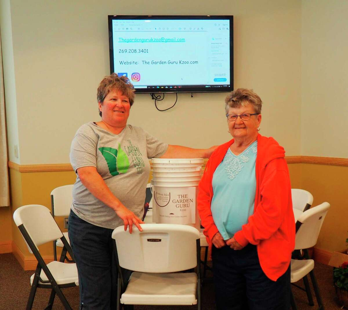 Alysia Babcock, Garden Guru Kzoo, and her assistant, Phyllis Babcock, were presentat the June 14 meeting of the Spirit of the Woods Garden Club, Inc.(Courtesy photo)