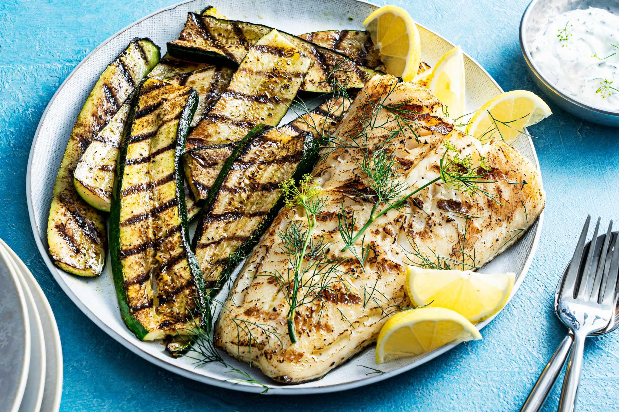 Want a surefire grilled fish recipe? This smoky sea bass with a 4-ingredient sauce is it.