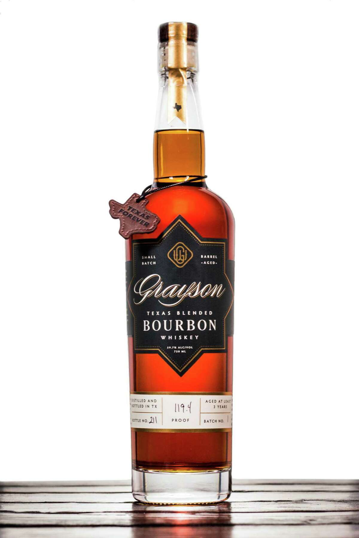 Grayson Texas Blended Bourbon is made with carefully chosen single barrels from Ironroot Republic Distilling, Balcones Distilling and Five Points Distilling - all proud Texas whiskey producers.