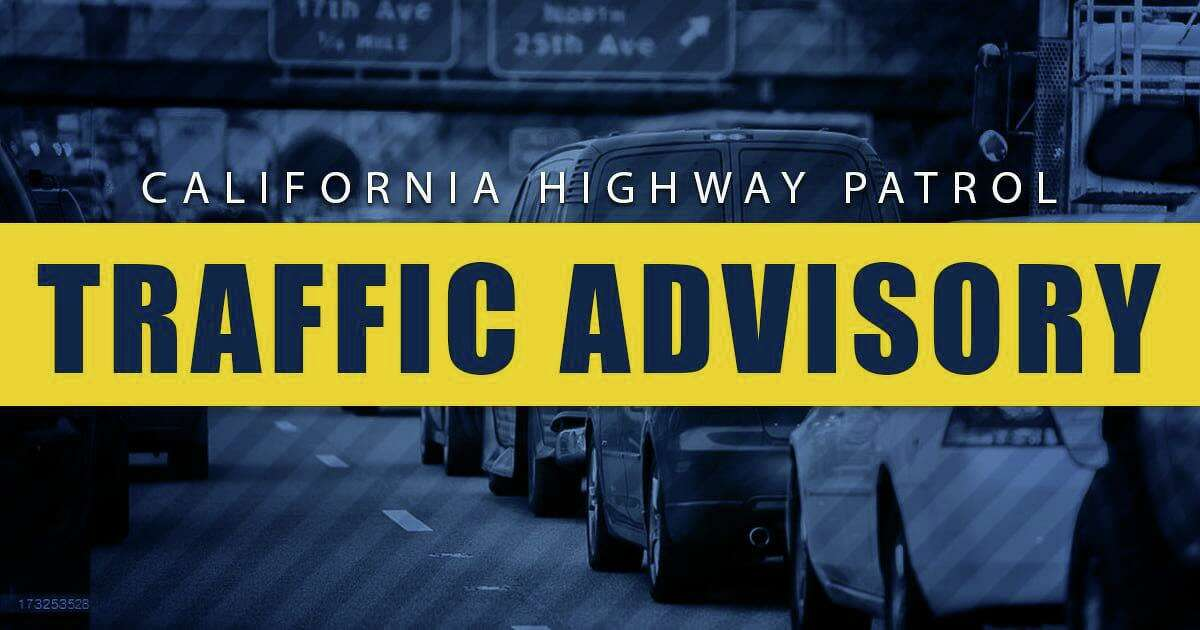 The California Highway Patrol issued a traffic advisory after a gas tanker truck overturned on Highway 37.