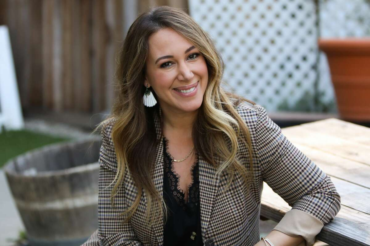 """UNIVERSAL CITY, CALIFORNIA - DECEMBER 15: Actress Haylie Duff visits Hallmark Channel's """"Home & Family"""" at Universal Studios Hollywood on December 15, 2020 in Universal City, California. (Photo by Paul Archuleta/Getty Images)"""