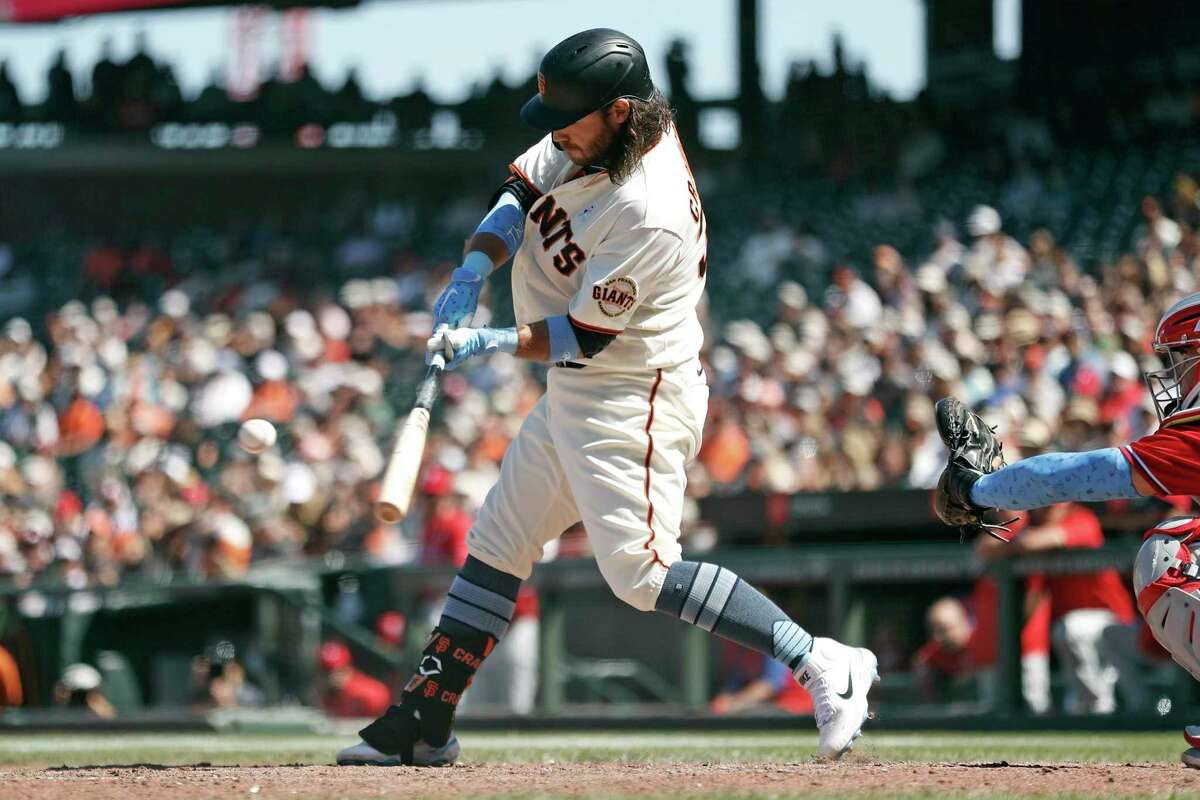 The only way anyone in the Bay Area saw the Giants' Brandon Crawford hit a two-run double in the eighth inning Sunday was by being in a seat at Oracle Park or watching it on NBC's Peacock streaming service.