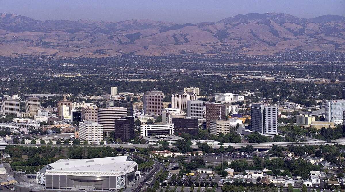 The downtown skyline of San Jose, Calif.