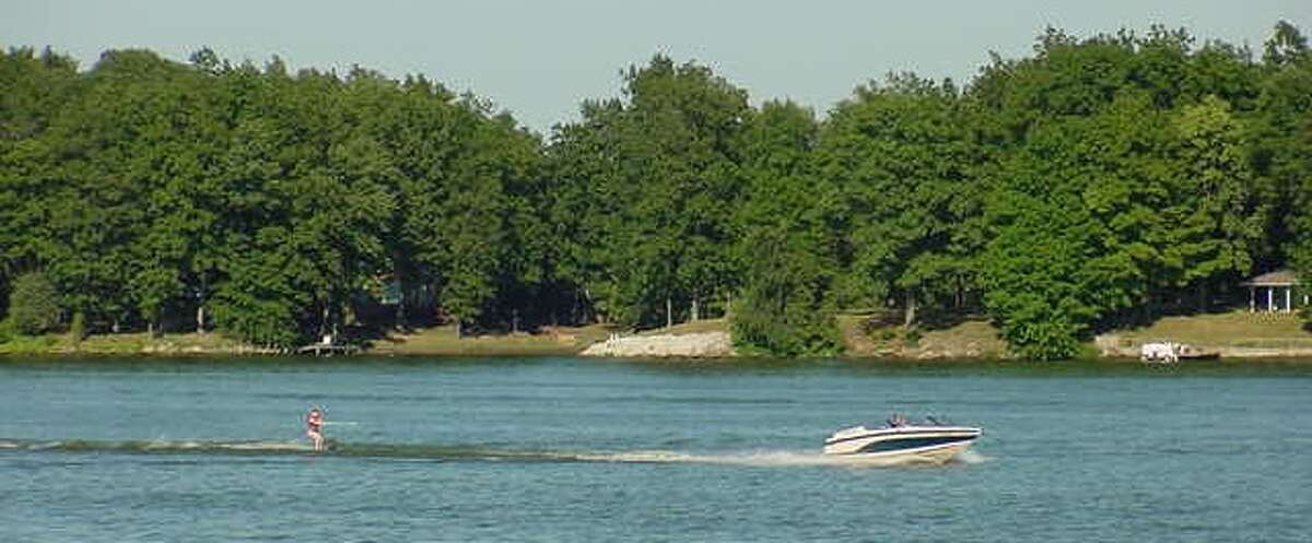 Lake Mattoonis located just outside of Matoon, Illinois. Along with the beach, there's also a campground and a marina so if you want to bring your boat with you, you can.