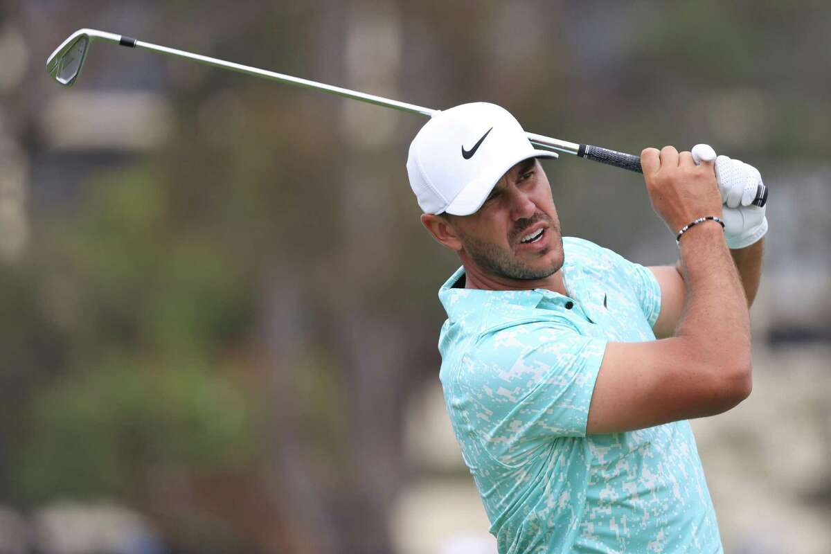 Brooks Koepka of the United States plays a shot during the final round of the U.S. Open on Sunday at Torrey Pines Golf Coursein San Diego.