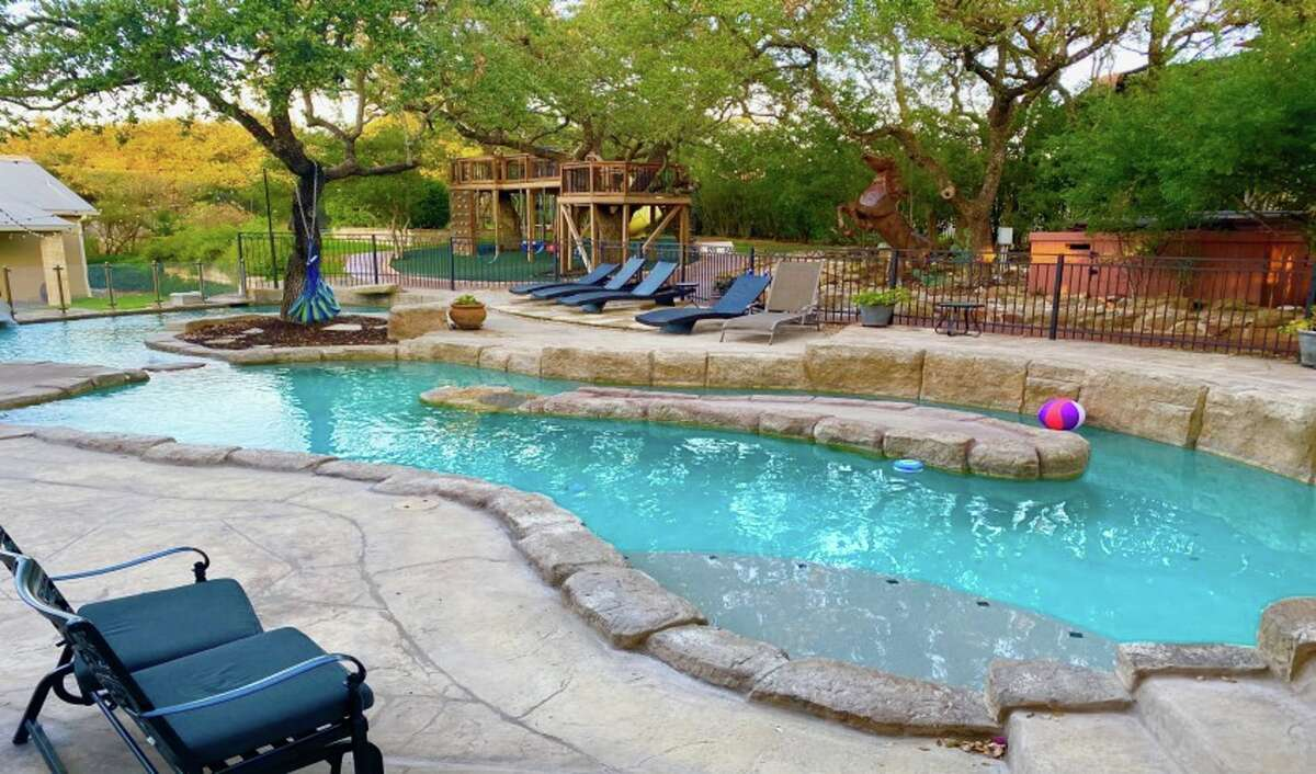 """This """"Staycation Pool Resort"""" is listed at $90 an hour for up to 15 people in San Antonio, Texas."""