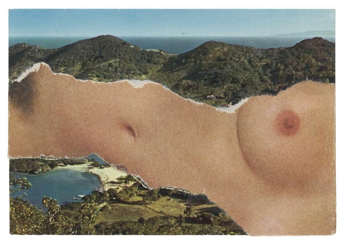"Ellsworth Kelly, Horizontal Nude or St. Martin Landscape, 1974, 4 x 5 7/8 inches, collection of Ellsworth Kelly Studio and Jack Shear, copyright Ellsworth Kelly Foundation"""