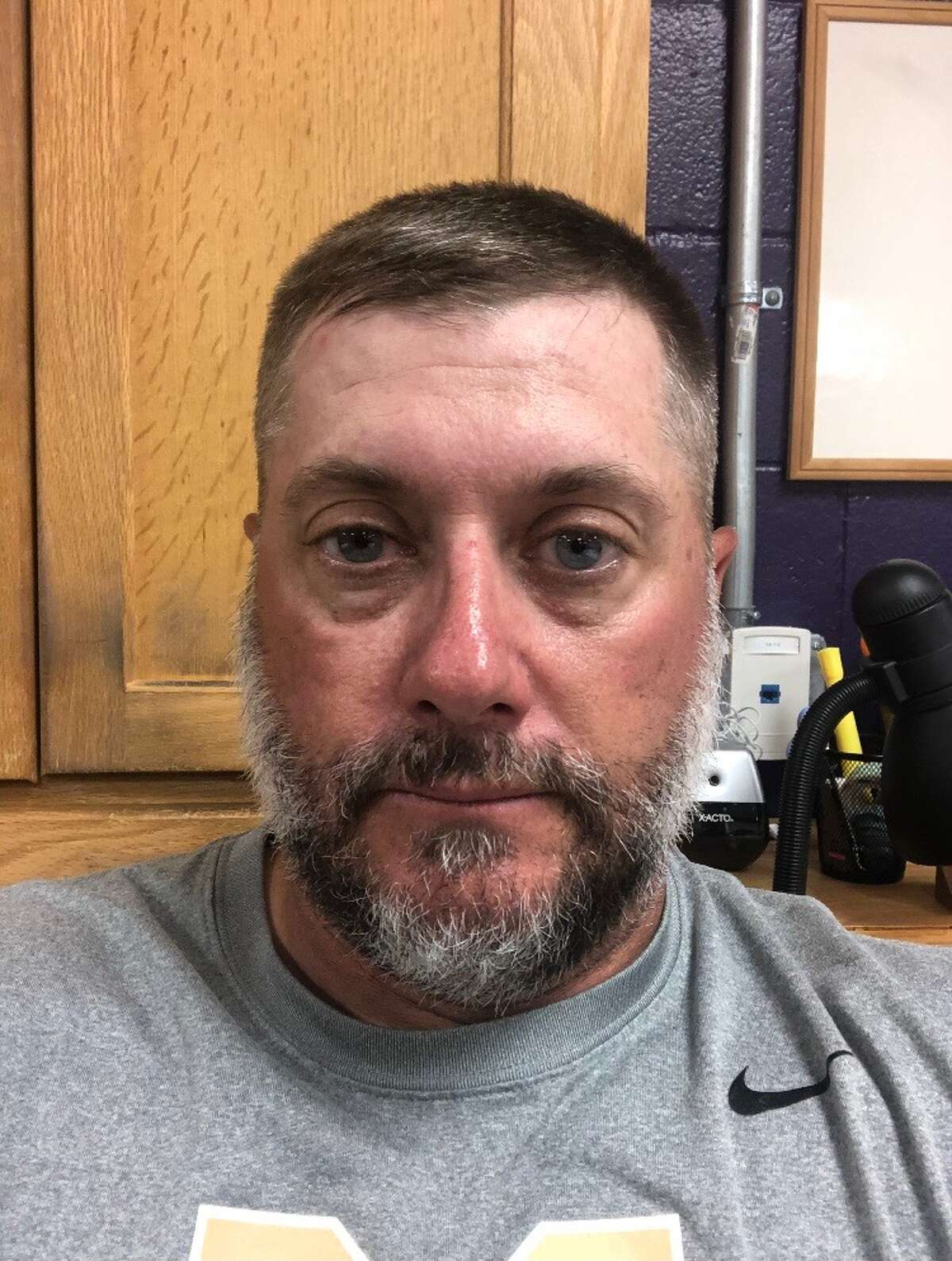 Midland High boys track & field head coach and co-defensive coordinator Stacey Martin