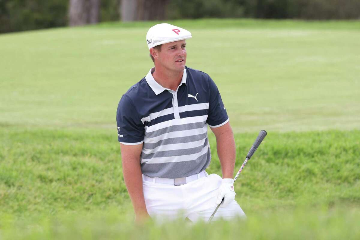 Bryson DeChambeau of the United States looks on from a bunker on the 13th hole during the final round of the U.S. Open on Sunday at Torrey Pines Golf Course in San Diego.