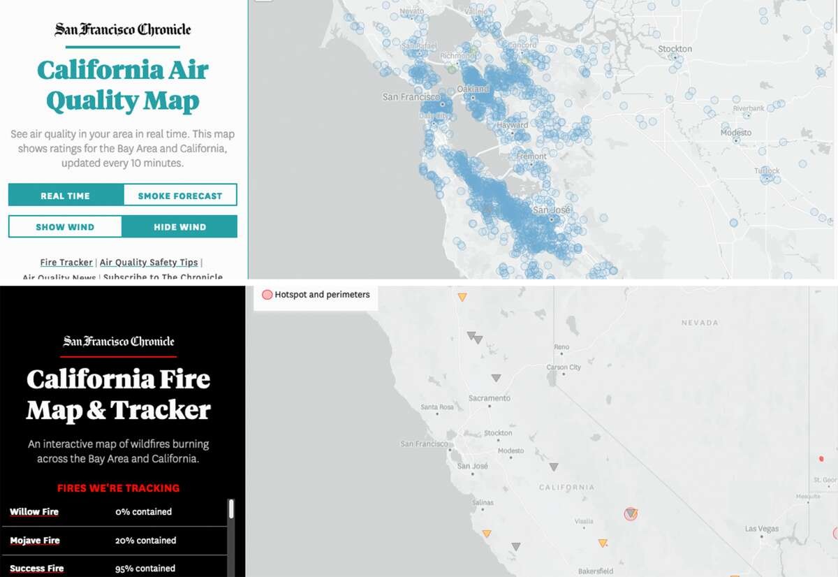 The Chronicle has relaunched its Air Quality Tracker and Fire Tracker.