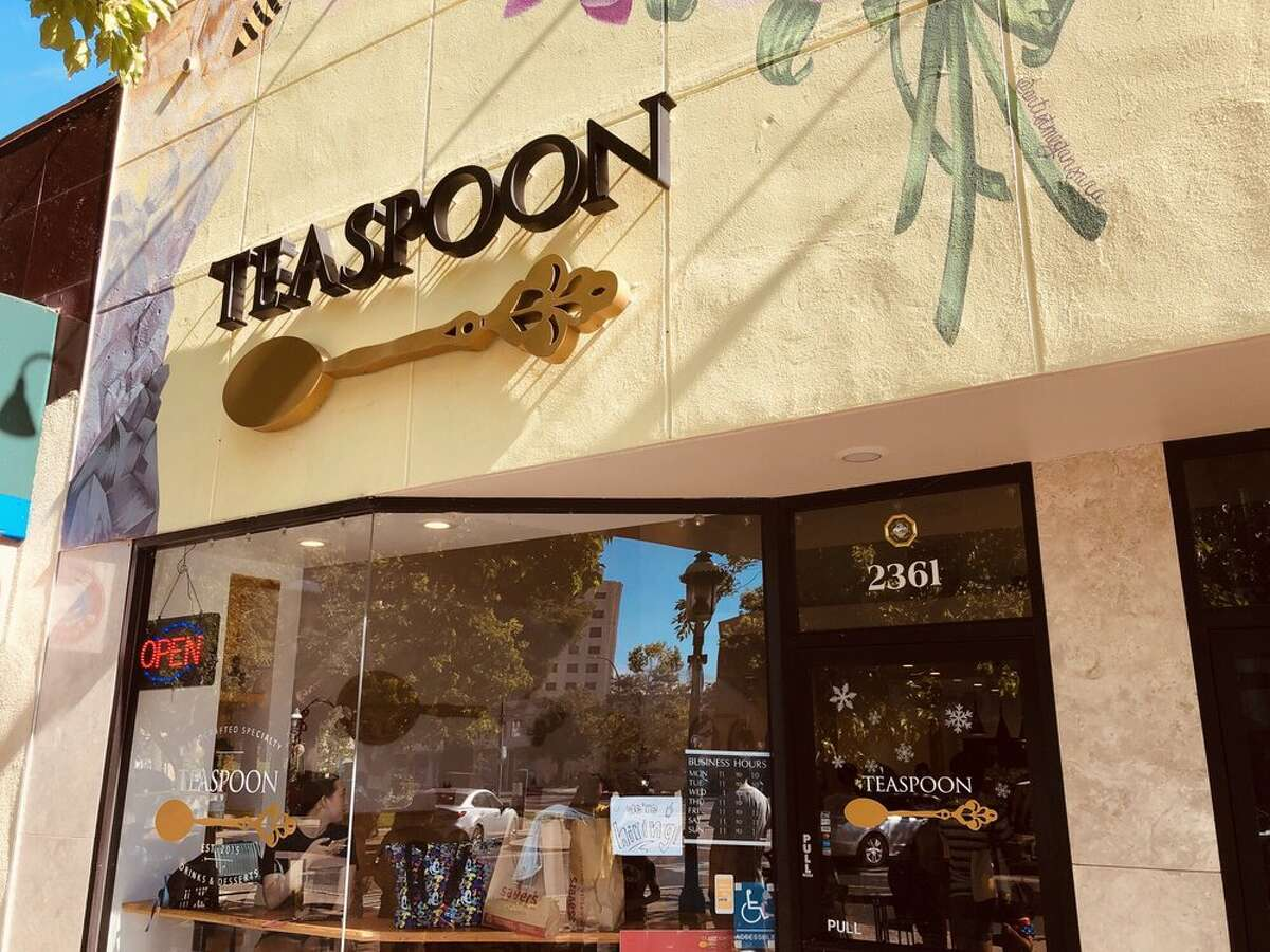 The coffee shop where the incident occurred on Friday in Redwood City.