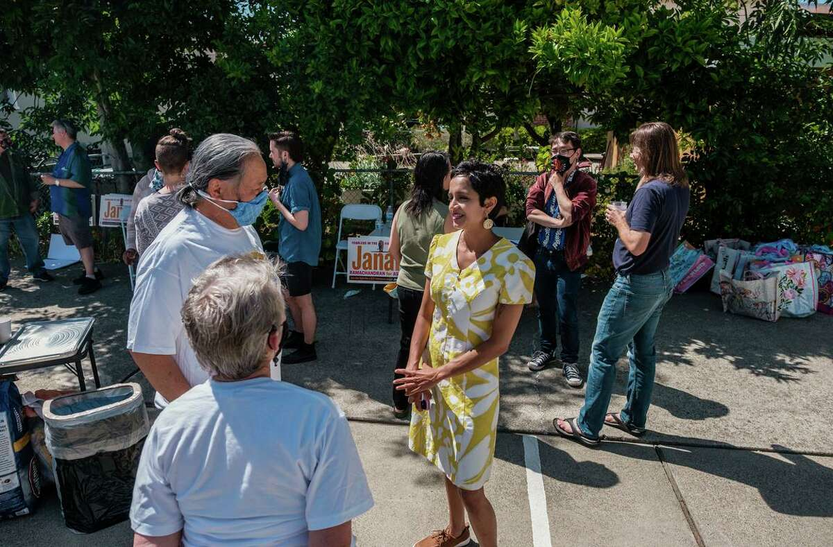 Janani Ramachandran, running for a vacant state Assembly seat in the East Bay, questions some contributions to rival Mia Bonta.