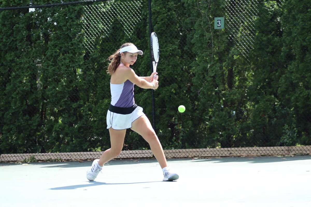 Mary Stoiana practices tennis six days a week and competes in tournaments all across the country. Her dad, Val, first taught her how to play when she was 5 years old.