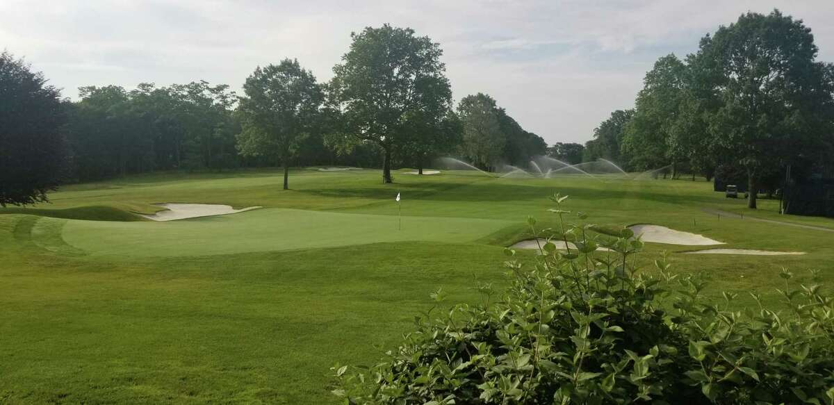 The 18th hole at Brooklawn Country Club, site of the U.S. Senior Women's Open which begins this week.