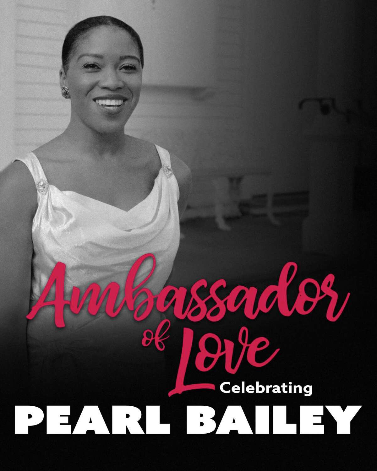 """The iconic Pearl Bailey will be immortalized as """"The Ambassador of Love"""" from June 22 to July 18 as Broadway and Goodspeed favorite Rashidra Scott takes center stage."""