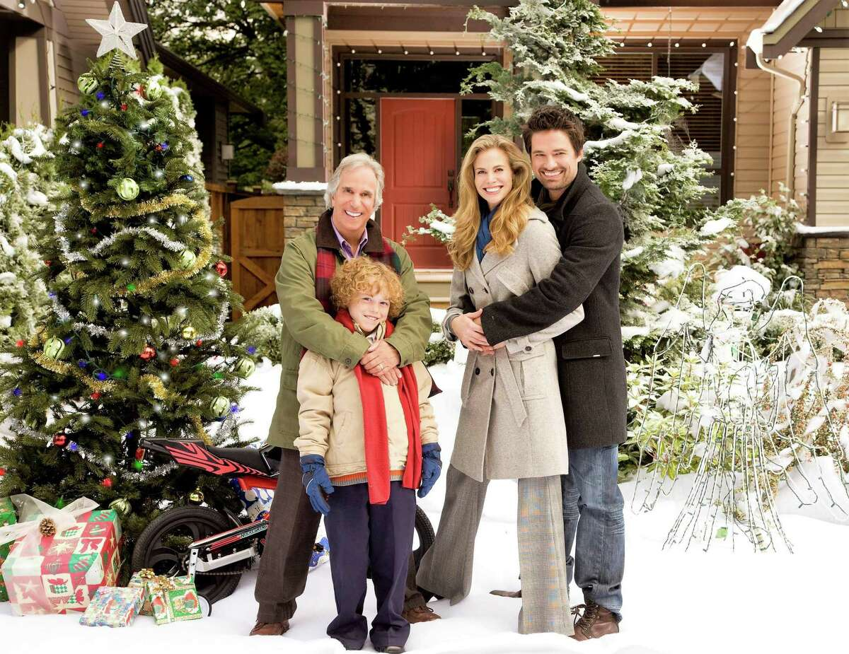 """In Hallmark's """"Most Wonderful Time of the Year,"""" airing at 8 p.m. July 24, Uncle Ralph (Henry Winkler), Brian (Connor Levins), Jennifer (Brooke Burns) and Morgan (Warren Christie) help each other revive the spirit of the holidays."""