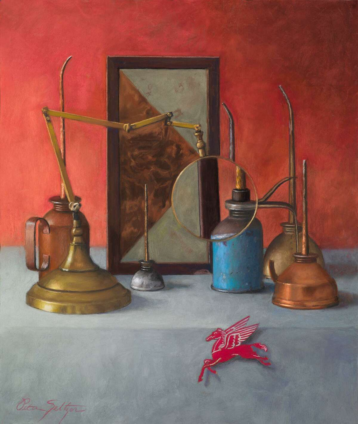 Peter Seltzer's paintings are featured in a new show at Six Summit's gallery in Westbrook.