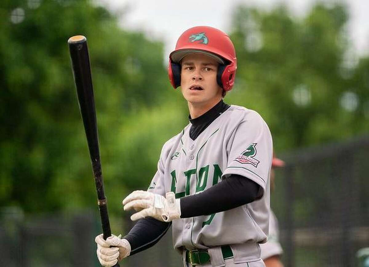 Blake Burris of the Alton River Dragons had a hit and scored twice in his team's 9-8 victory over Terre Haute REX Baseball Tuesday night in Terre Haute, Ind.