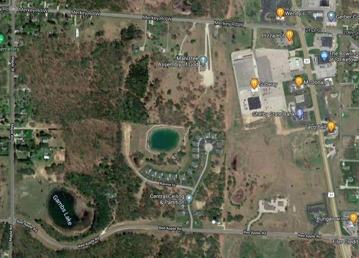 Filer Township officials are considering a town center development on three parcels of land along US-31 between Merkey Road and Red Apple Road.