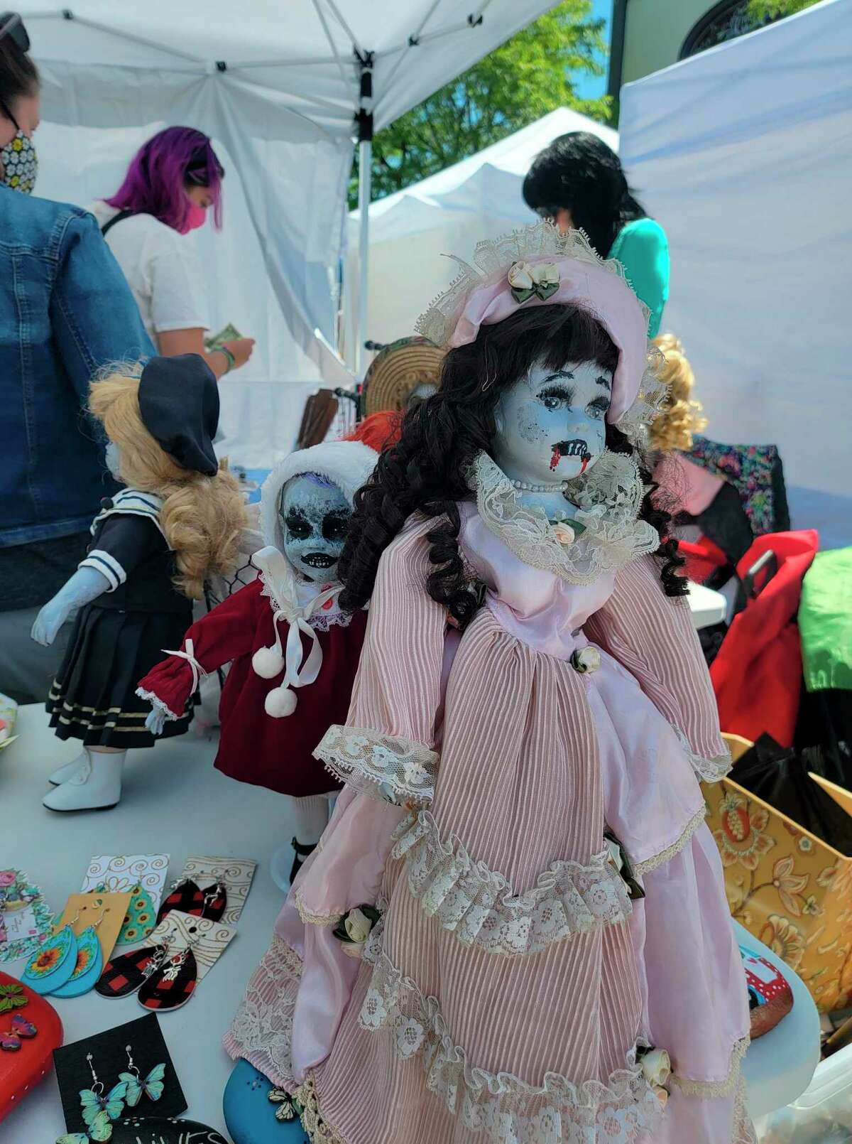 Lori Tabor Randall's zombie dolls were one of the more unique creations at the Frankfort Art Fair. (Colin Merry/Record Patriot)