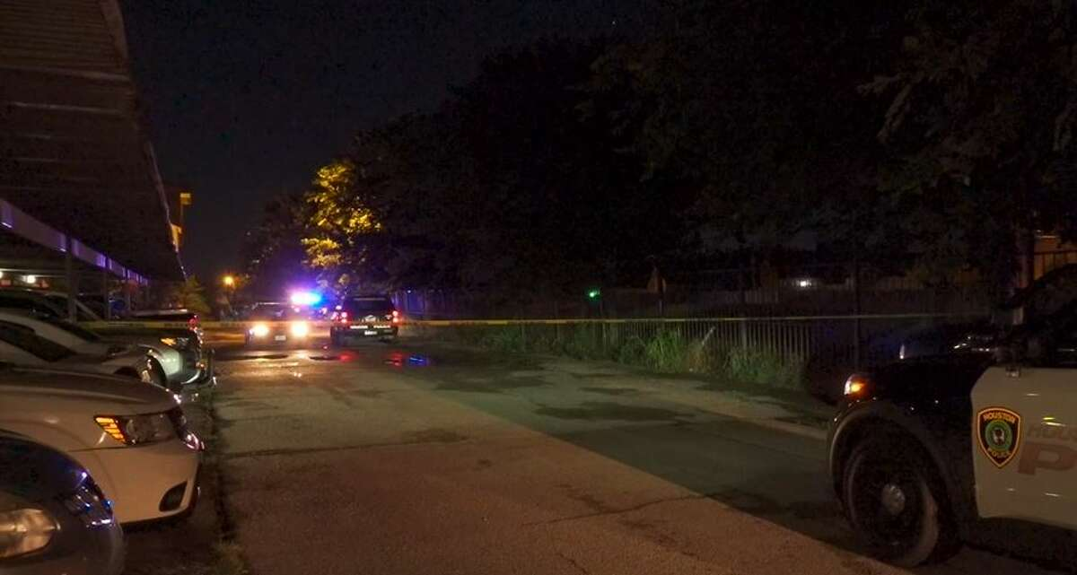 Police investigating after a man was found shot inside a crashed car late Tuesday in west Houston.