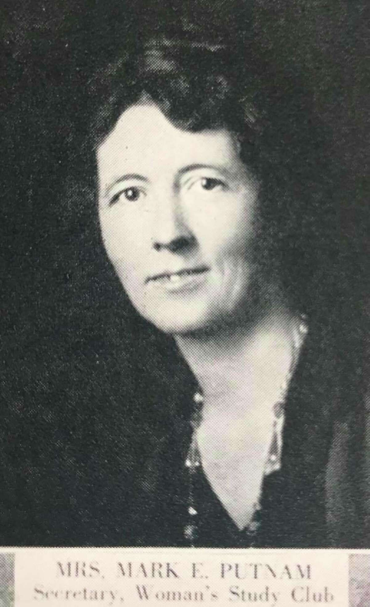 Mrs. Mark E. Putnam, secretary, Woman's Study Club