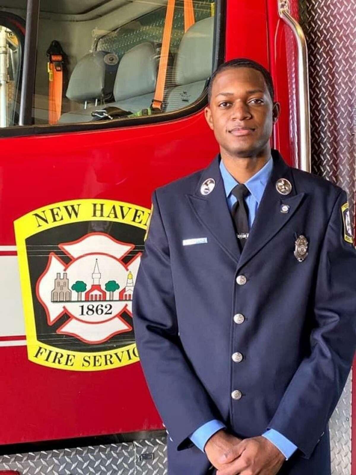 "New Haven Fire Lt. Samod ""Nuke"" Rankins"