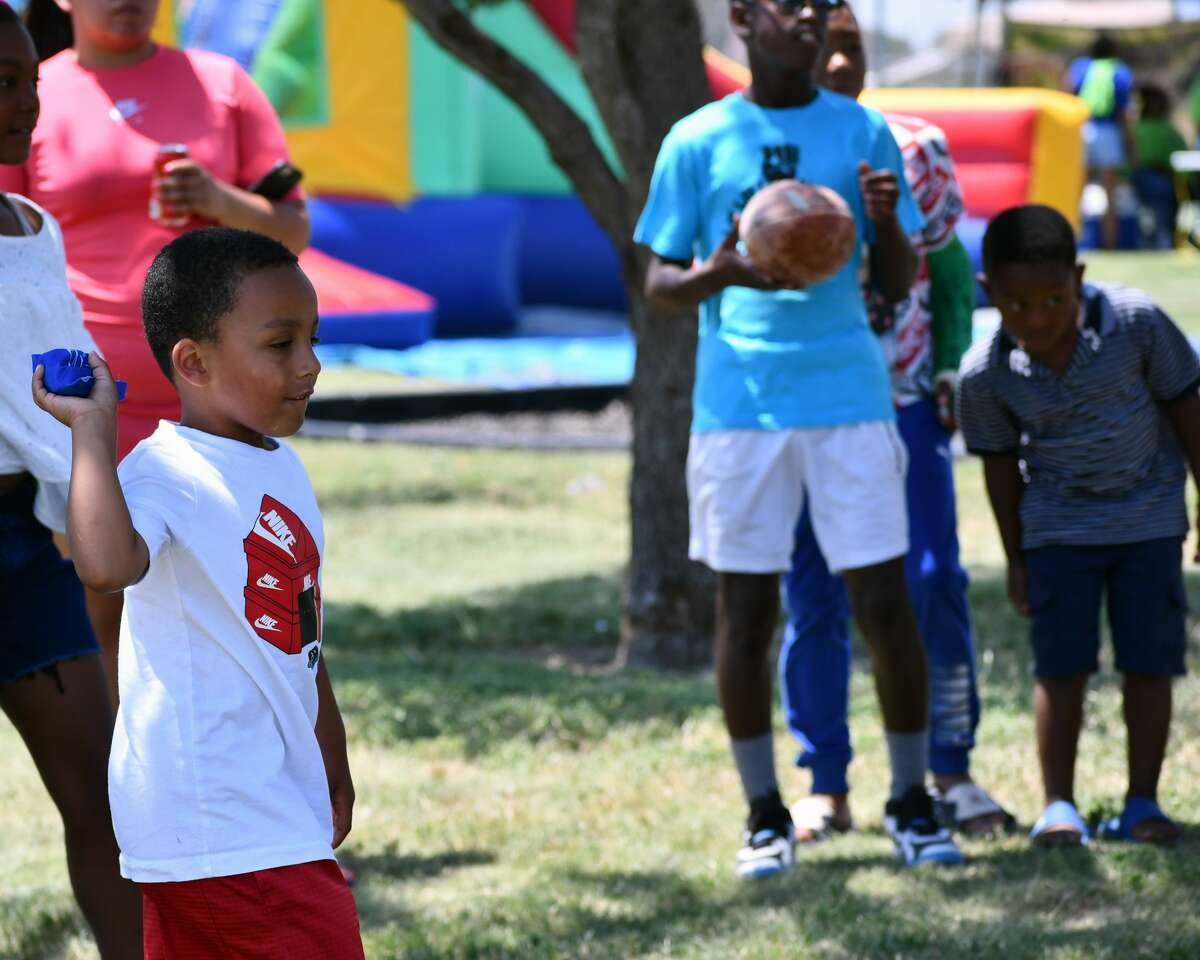 People of all ages took part in Plainview AHEAD's annual Juneteenth celebration.