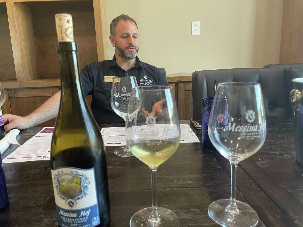 Winemaker Paul Mitchell Bonarrigo of Harvest Green Winery & Kitchen at Messina Hof in Richmond.