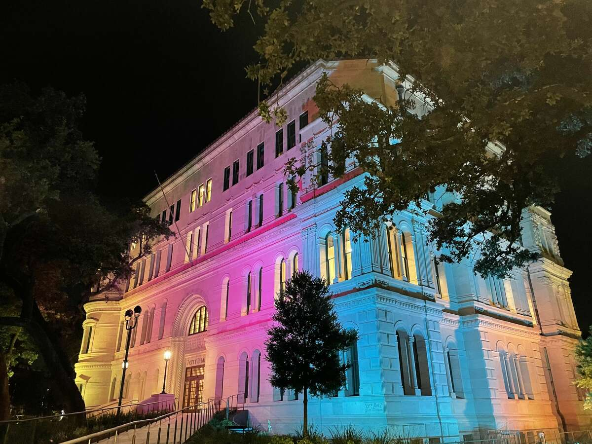 City Hall is joining other buildings in the downtown skyline and structures around the world in recognizing Pride Month with a colorful light display.